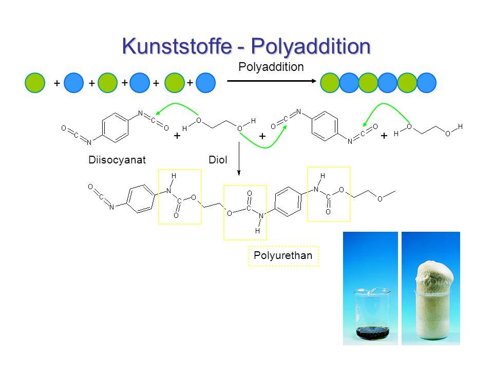 Kunststoffe - Polyaddition ++ + + + Polyaddition Polyurethan DiisocyanatDiol
