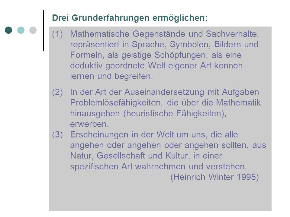 (1)Mathematische Gegenstände und Sachverhalte, repräsentiert in Sprache, Symbolen, Bildern und Formeln, als geistige Schöpfungen, als eine deduktiv ge
