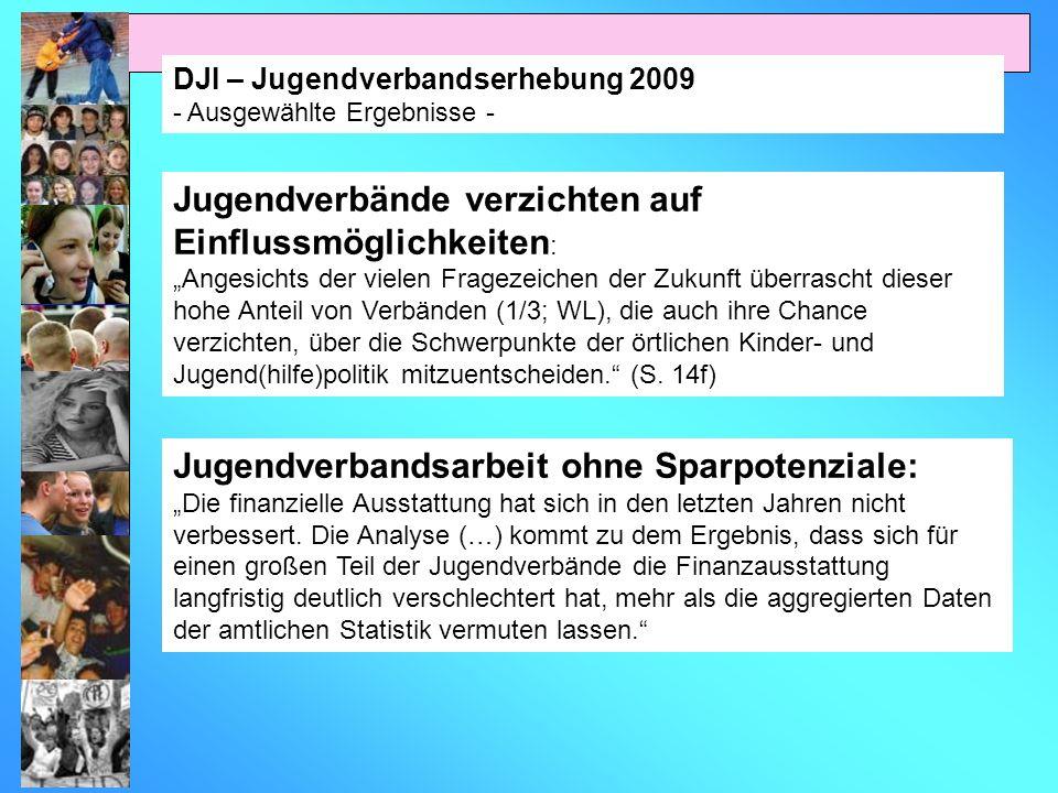 DJI – Jugendverbandserhebung 2009 - Ausgewählte Ergebnisse - Jugendverbände verzichten auf Einflussmöglichkeiten : Angesichts der vielen Fragezeichen