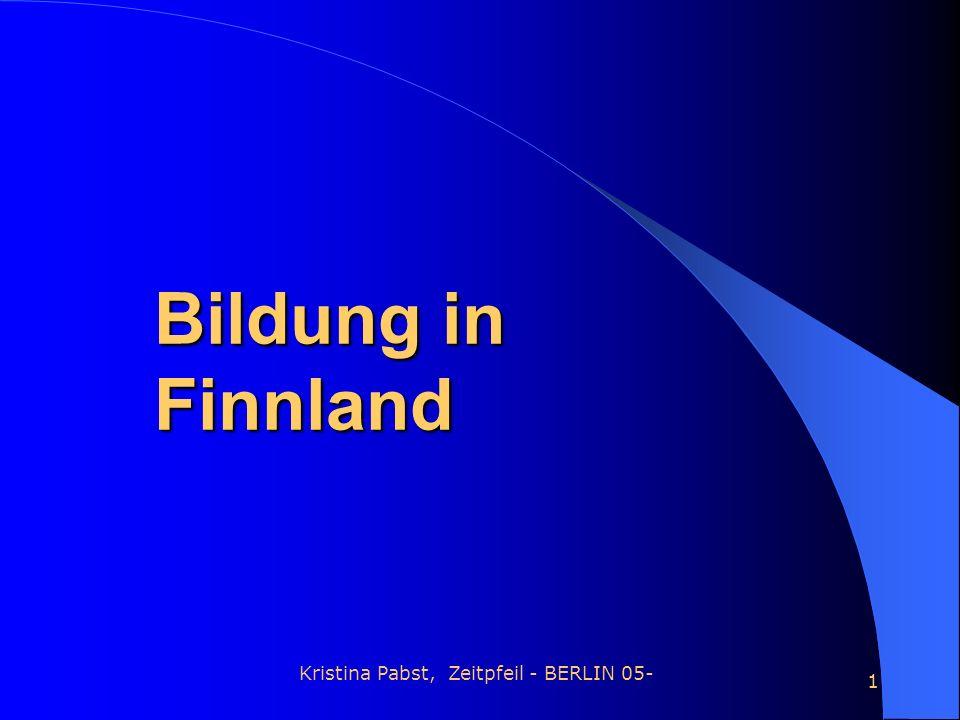 Kristina Pabst, Zeitpfeil - BERLIN 05- 1 Bildung in Finnland