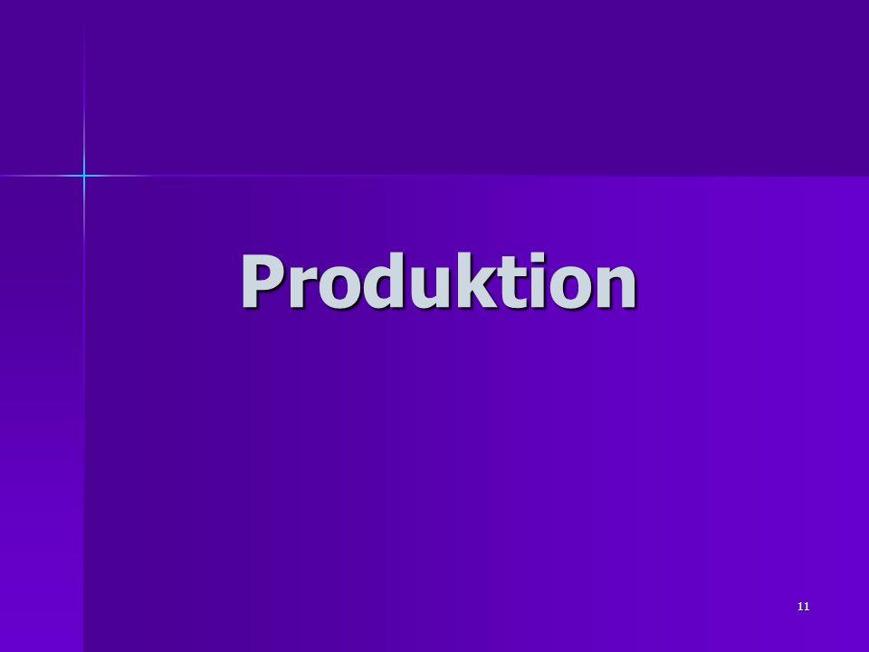 11 Produktion