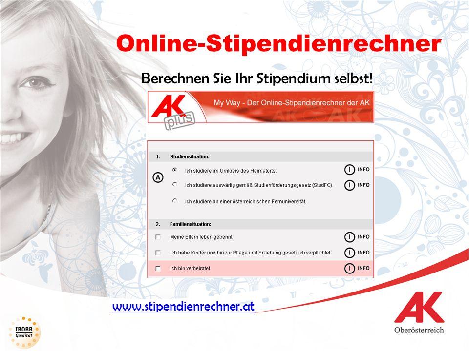 Online-Stipendienrechner www.stipendienrechner.at Berechnen Sie Ihr Stipendium selbst!