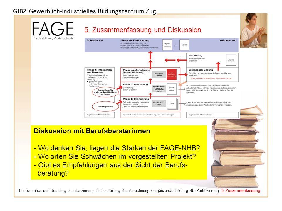 Pflegen Sie Ihre Zukunft! 1. Information und Beratung 2. Bilanzierung 3. Beurteilung 4a: Anrechnung / ergänzende Bildung 4b: Zertifizierung 5. Zusamme