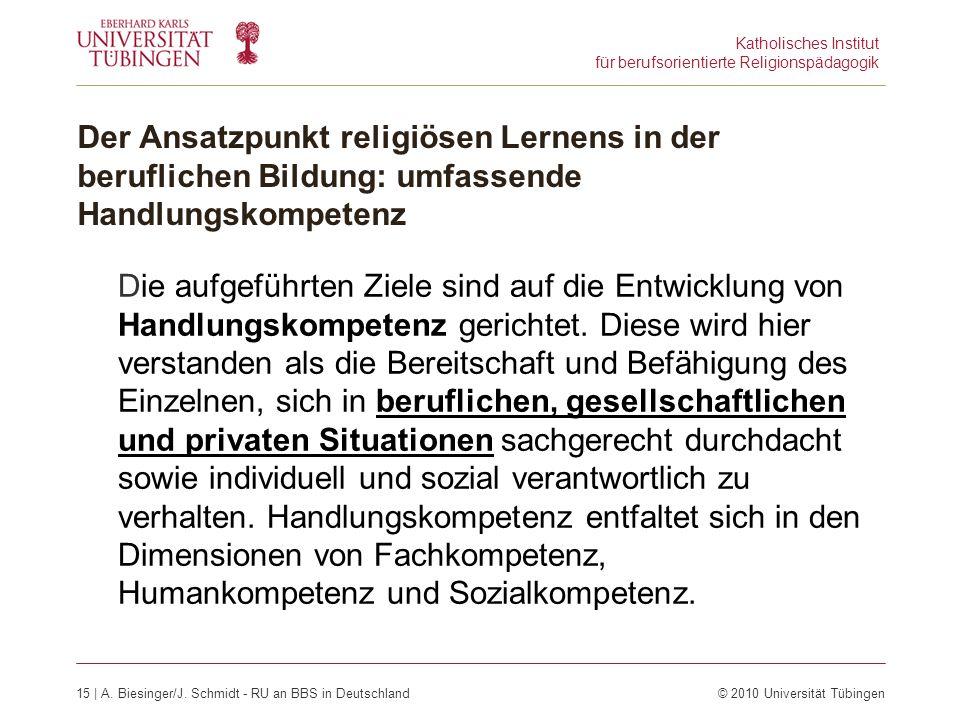 Katholisches Institut für berufsorientierte Religionspädagogik 15 | A.