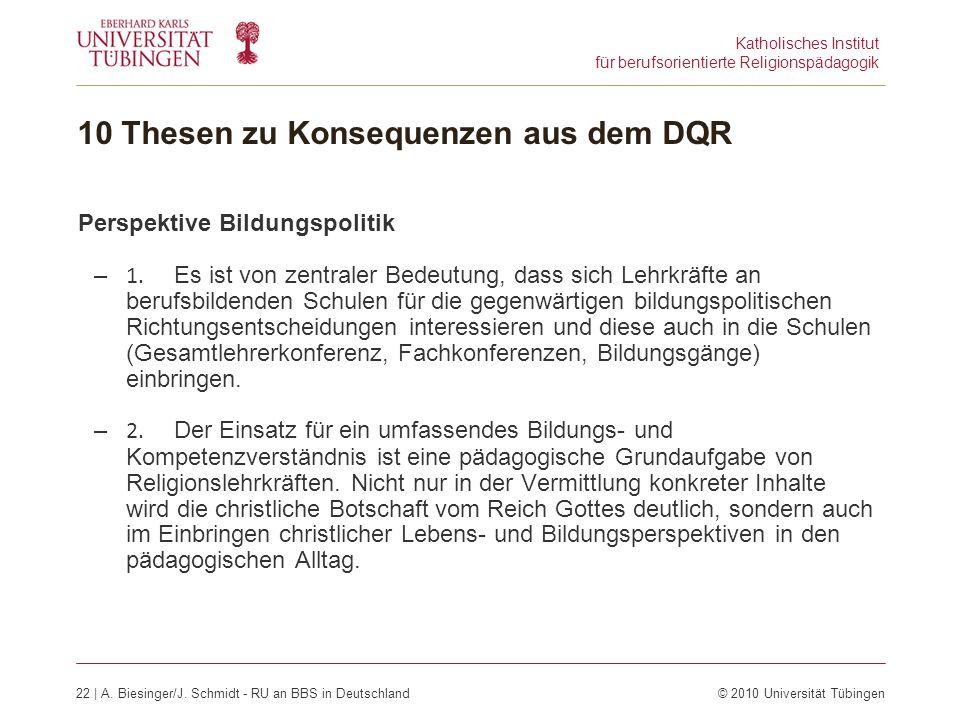Katholisches Institut für berufsorientierte Religionspädagogik 22 | A.