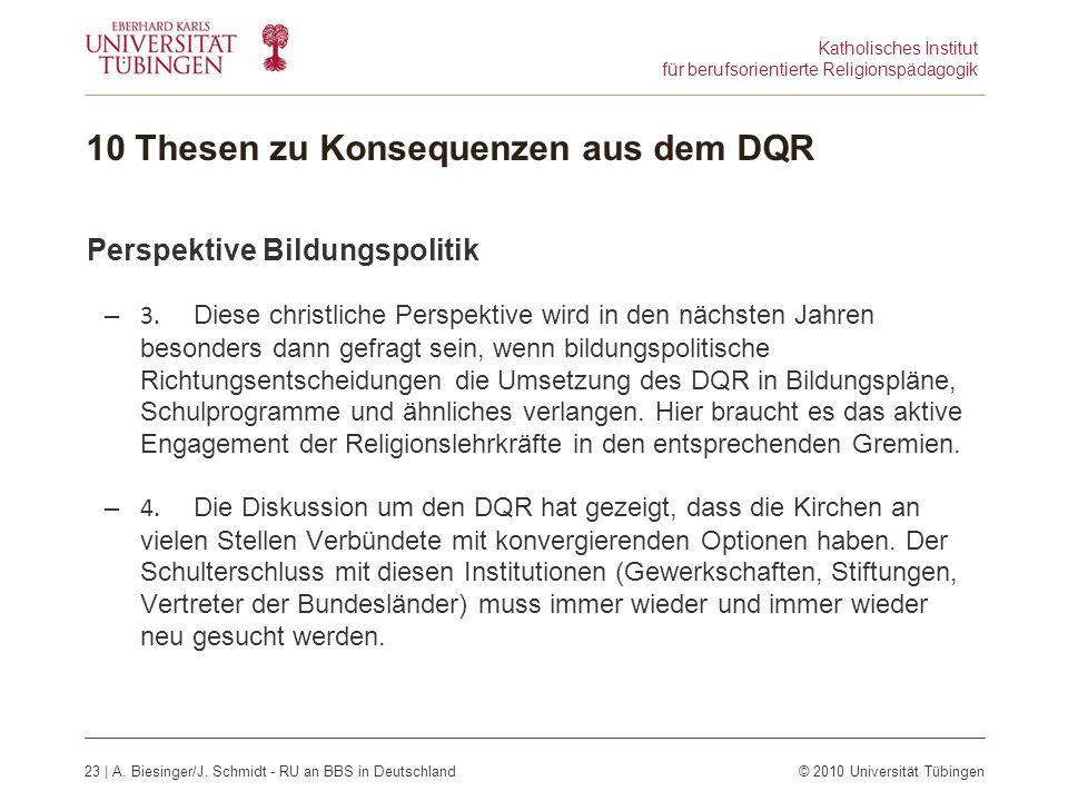 Katholisches Institut für berufsorientierte Religionspädagogik 23 | A.