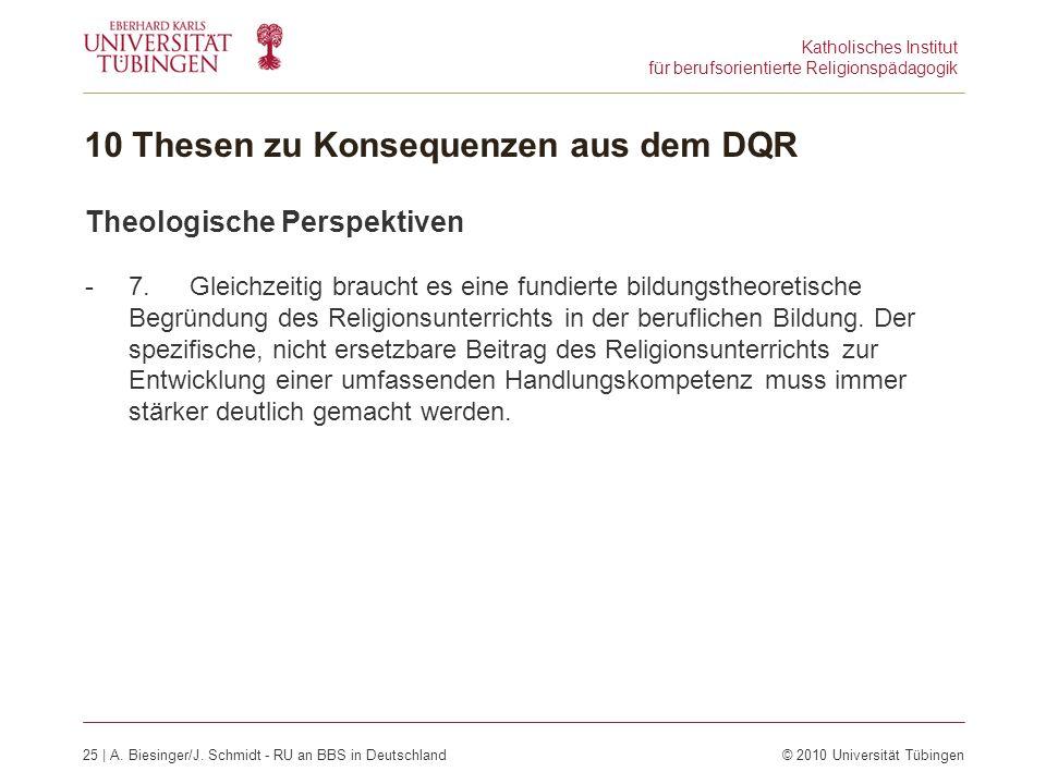 Katholisches Institut für berufsorientierte Religionspädagogik 25 | A.