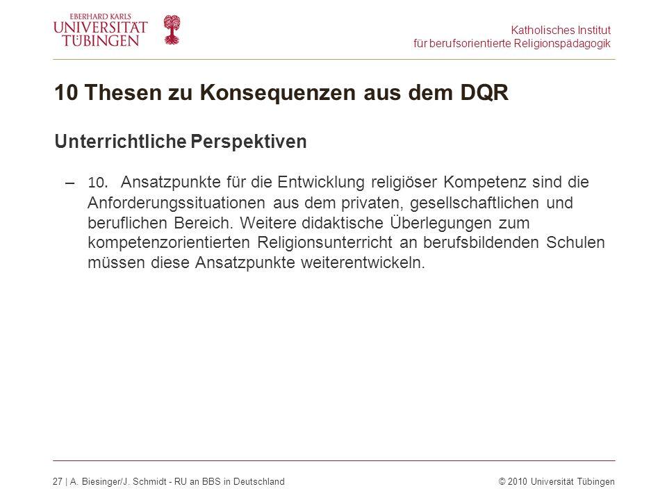 Katholisches Institut für berufsorientierte Religionspädagogik 27 | A.