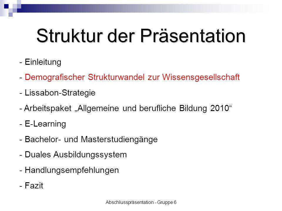 Abschlusspräsentation - Gruppe 6