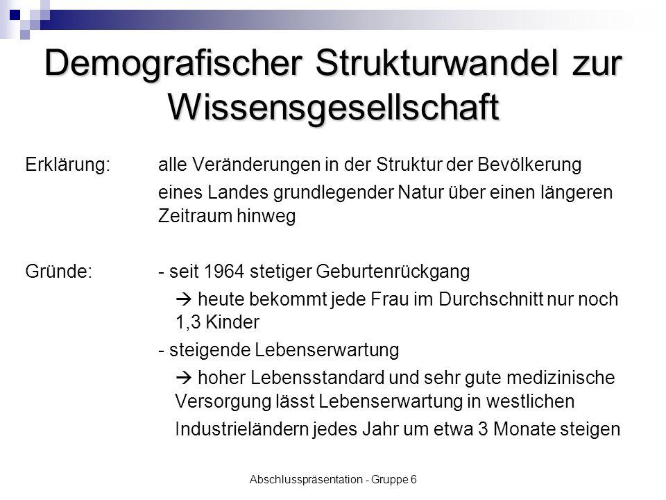 Abschlusspräsentation - Gruppe 6 Arbeitspaket Allgemeine und berufliche Bildung 2010 - Entwicklung der Grundfertigkeiten für die Wissensgesellschaft Benchmark 2010: 10%