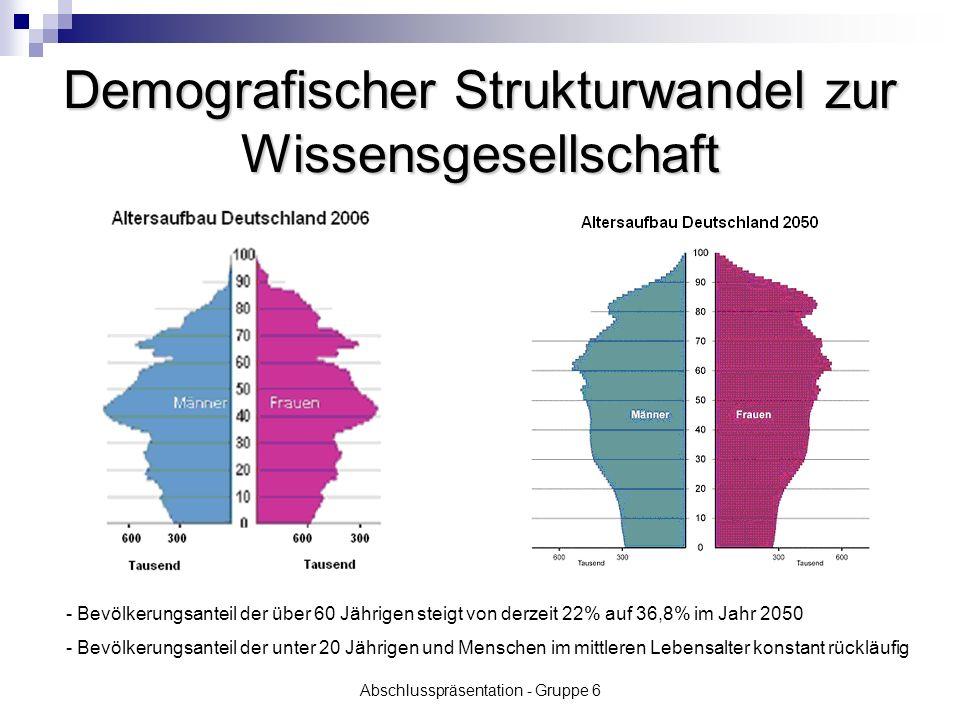 Abschlusspräsentation - Gruppe 6 Demografischer Strukturwandel zur Wissensgesellschaft