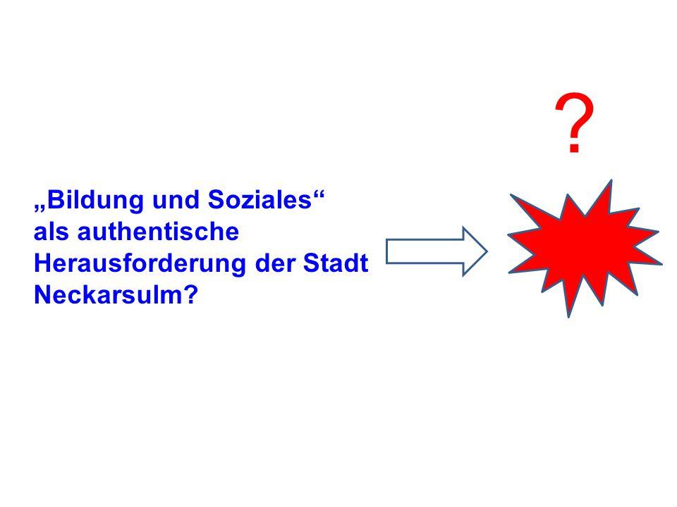 Bildung und Soziales als authentische Herausforderung der Stadt Neckarsulm? ?