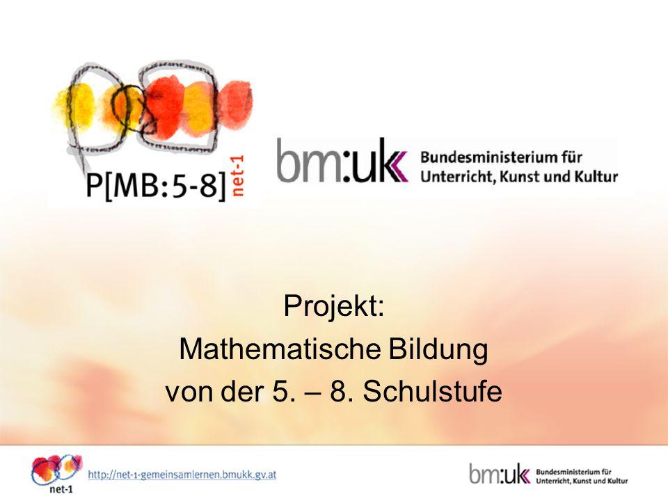 Projekt: Mathematische Bildung von der 5. – 8. Schulstufe