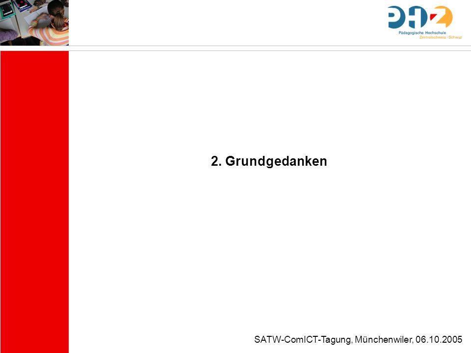 SATW-ComICT-Tagung, Münchenwiler, 06.10.2005 Warum ICT-Ethik in der Schule.