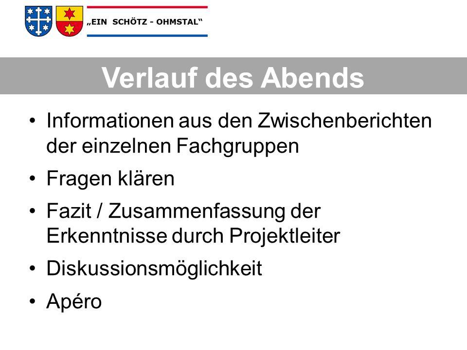 Ingenieurbüro Hüsler & Heiniger Fachstelle für Strassenunterhalt Büro Emch und Berger Feuerwehrinspektorat Raumplanung Externe Fachleute