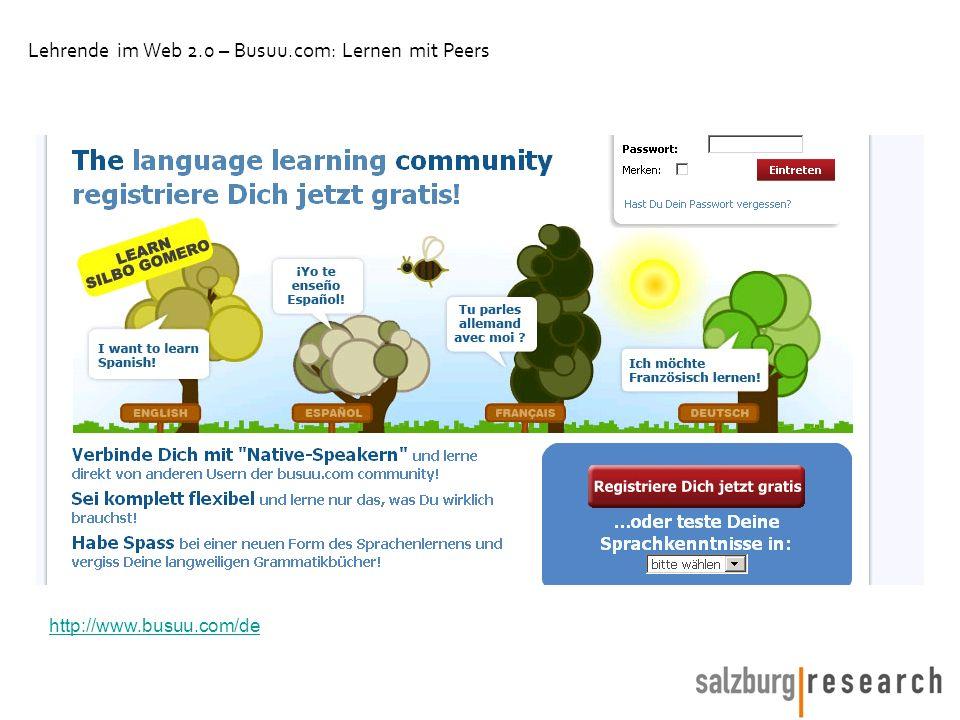 Lehrende im Web 2.0 – Busuu.com: Lernen mit Peers http://www.busuu.com/de
