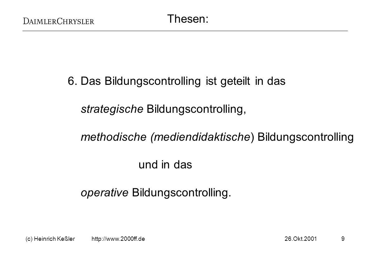 26.Okt.2001(c) Heinrich Keßler http://www.2000ff.de20 Beispiel aus der DCAG.