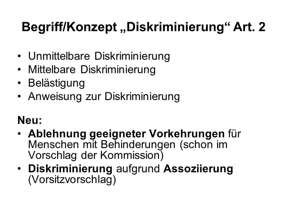 Begriff/Konzept Diskriminierung Art.