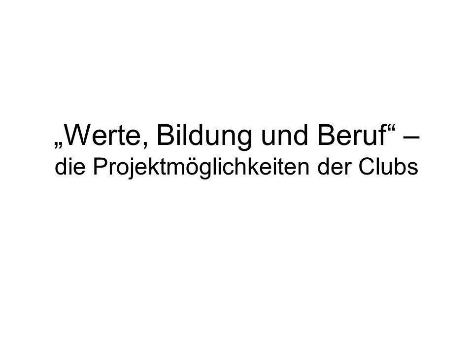> Berufsdienst > (Vocational Service) > Werte, Bildung und Beruf