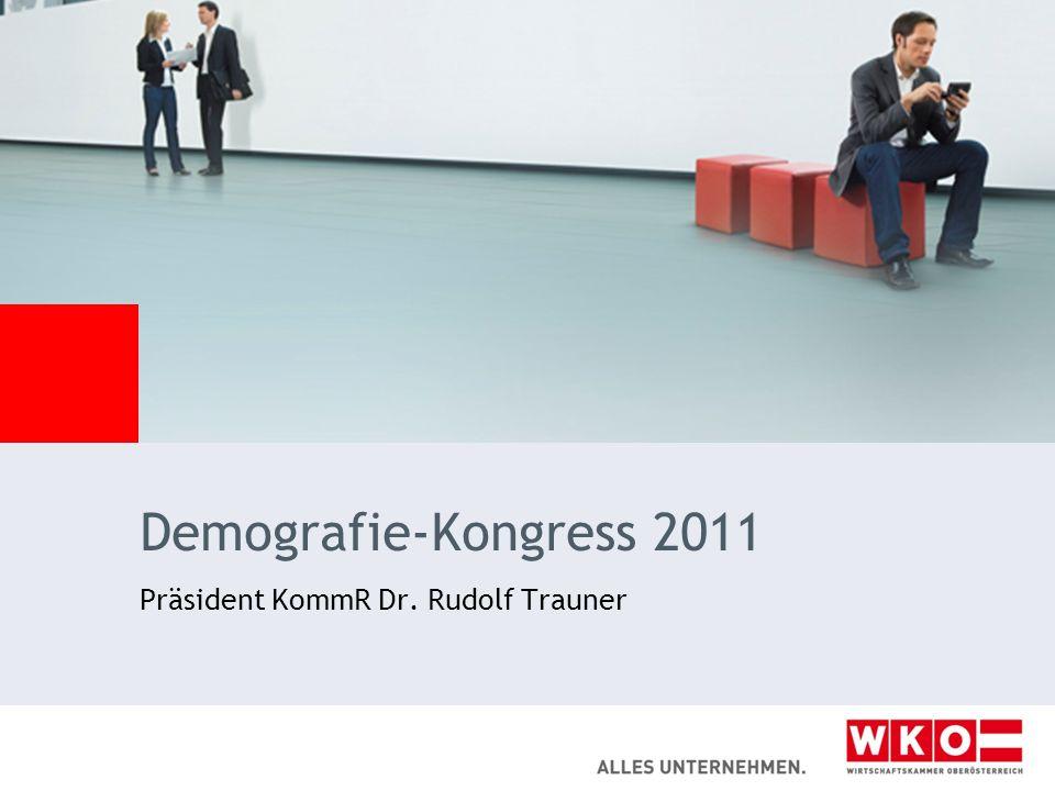 Demografie-Kongress 2011 Präsident KommR Dr. Rudolf Trauner