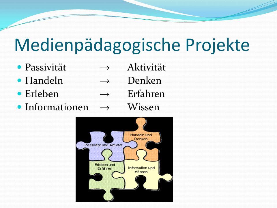 Medienpädagogische Projekte Passivität Aktivität Handeln Denken Erleben Erfahren Informationen Wissen