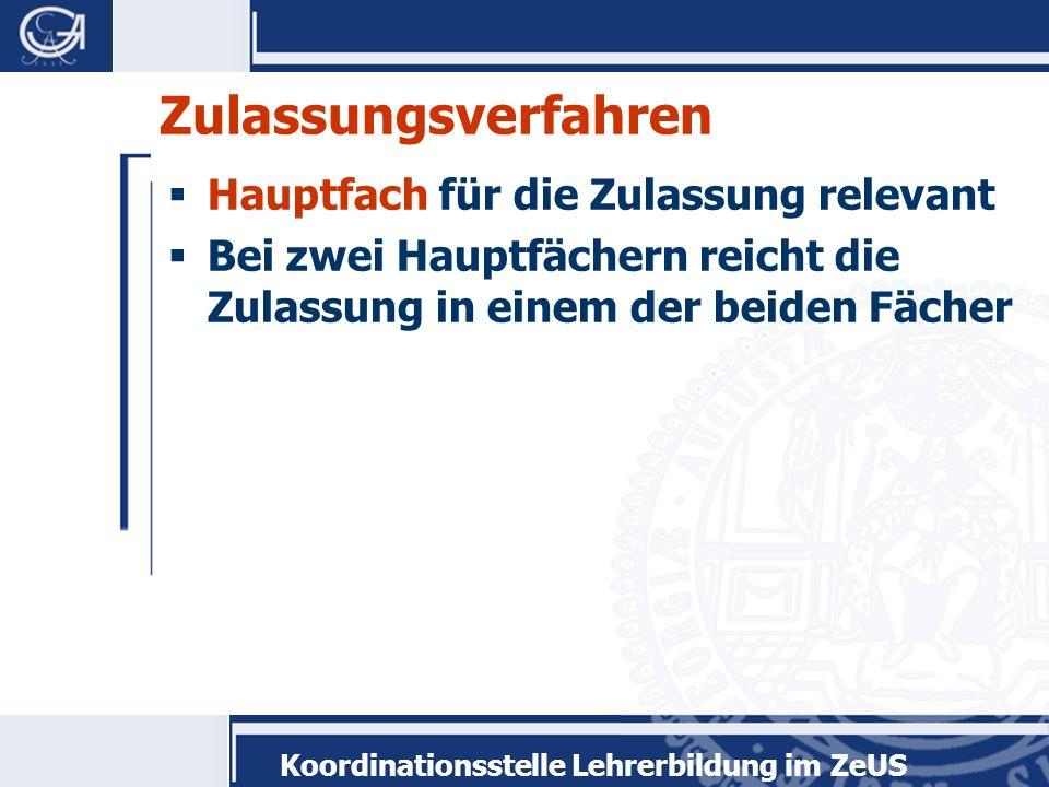 Koordinationsstelle Lehrerbildung im ZeUS Studienstruktur