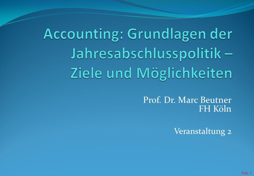 Folie: 1 Prof. Dr. Marc Beutner FH Köln Veranstaltung 2