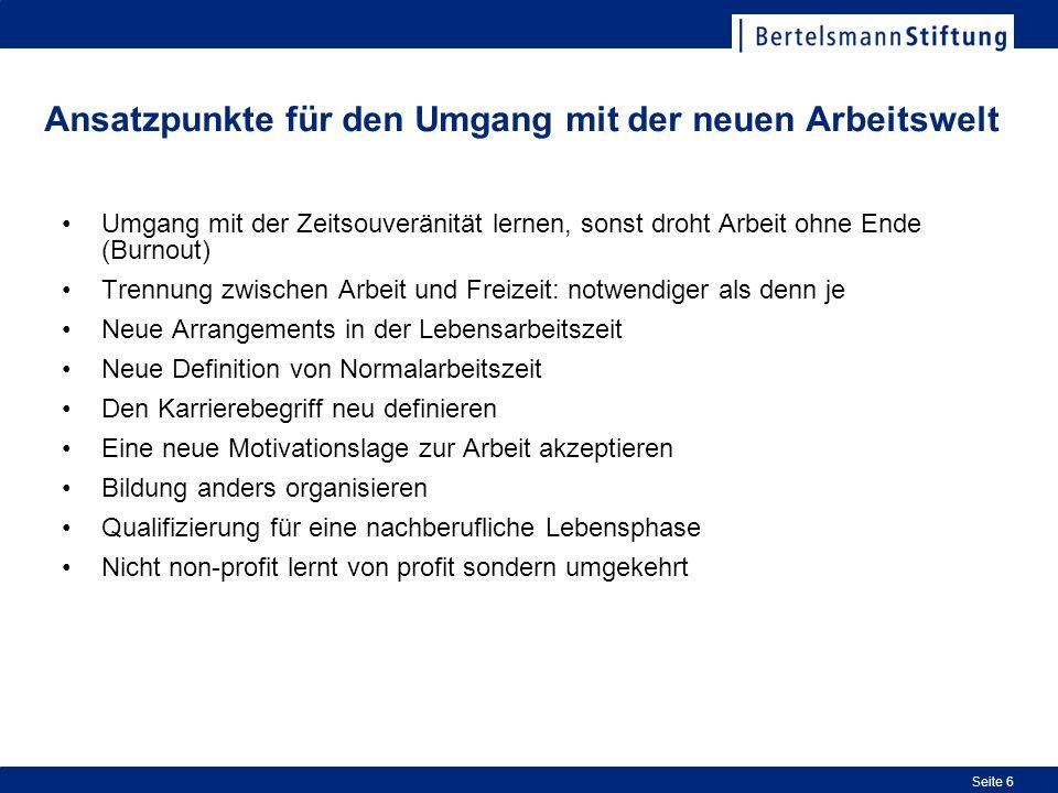 Seite 7 Arbeitsunfälle Berufskrankheiten Absentismus Wiedereingliederung Über-, Unterforderung, med.