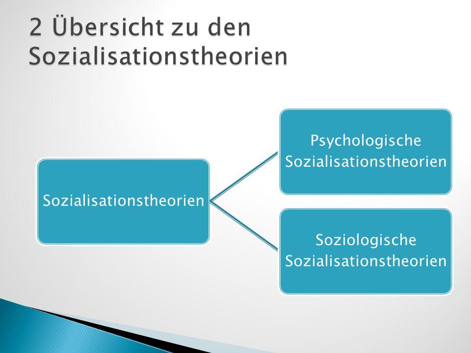 Sozialisationstheorien Psychologische Sozialisationstheorien Soziologische Sozialisationstheorien