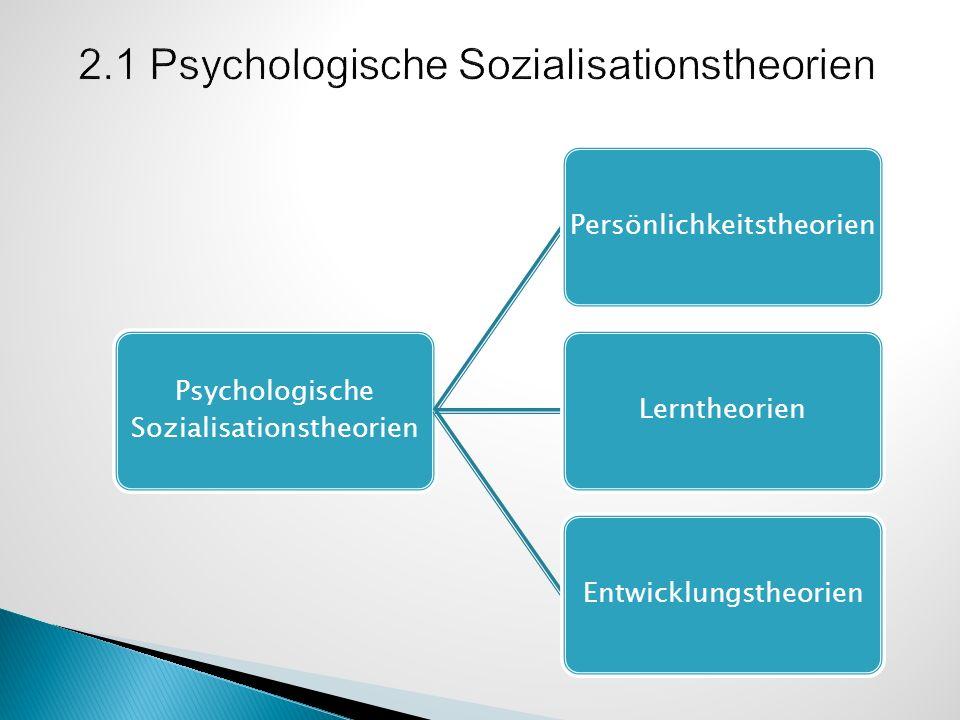 Persönlichkeitstheorien Psychoanalytische Theorien: genetische Faktoren und Triebe (Freud, Erikson) Stress- und Bewältigungstheorien: einprogrammierte Bewältigungsmuster