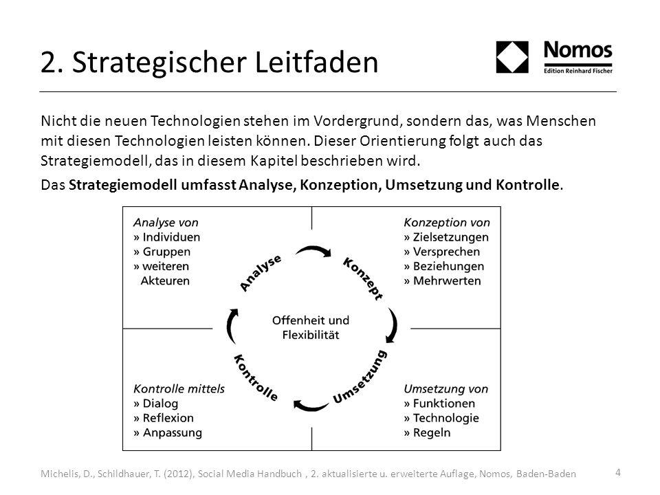 2. Strategischer Leitfaden Nicht die neuen Technologien stehen im Vordergrund, sondern das, was Menschen mit diesen Technologien leisten können. Diese
