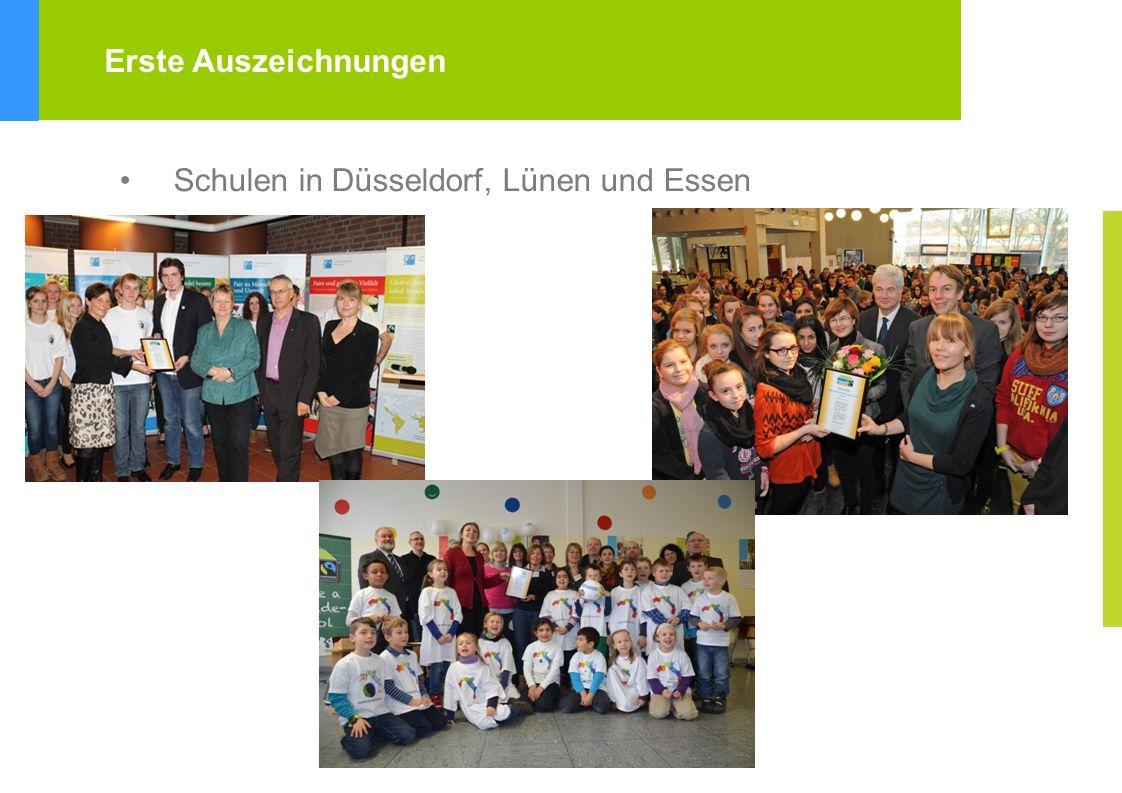 Schulen in Düsseldorf, Lünen und Essen Erste Auszeichnungen