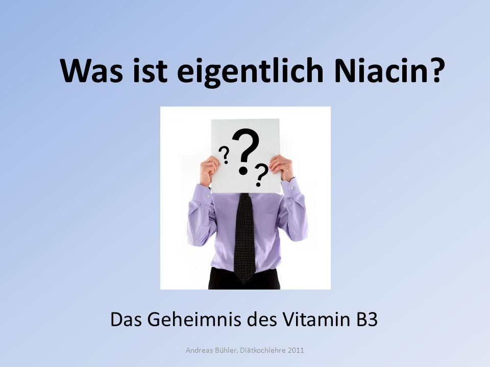Was ist eigentlich Niacin? Das Geheimnis des Vitamin B3 Andreas Bühler, Diätkochlehre 2011