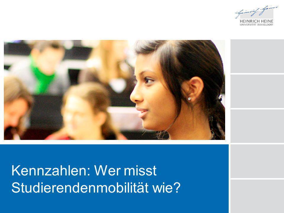 www.hhu.de Ausgangsfrage Viele machen quantitative Aussagen zur Mobilität unserer Studierenden.