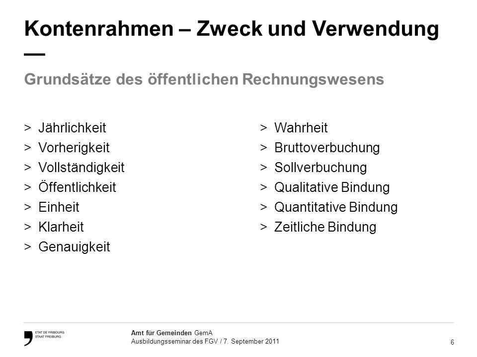 7 Amt für Gemeinden GemA Ausbildungsseminar des FGV / 7.