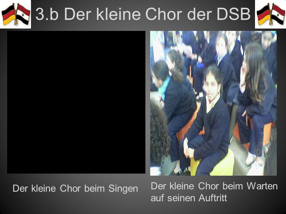 3.b Der kleine Chor der DSB Der kleine Chor beim Warten auf seinen Auftritt Der kleine Chor beim Singen