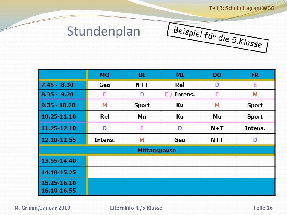 Stundenplan MODIMIDOFR 7.45 - 8.30GeoN+TRelDE 8.35 - 9.20EDE / Intens.EM 9.35 - 10.20MSportKuMSport 10.25-11.10RelMuKuMuSport 11.25-12.10DEDN+TIntens.