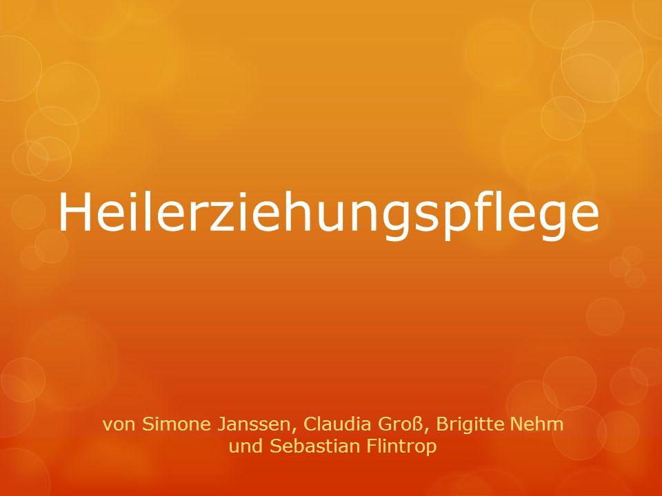 Heilerziehungspflege von Simone Janssen, Claudia Groß, Brigitte Nehm und Sebastian Flintrop