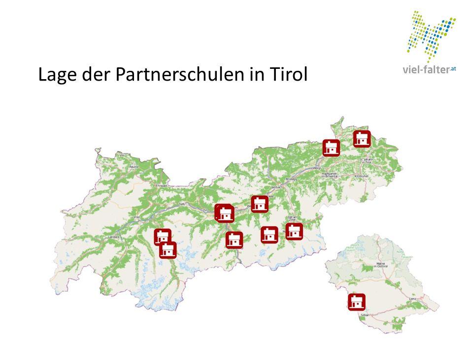 Unsere Vision Lage der Partnerschulen in Tirol