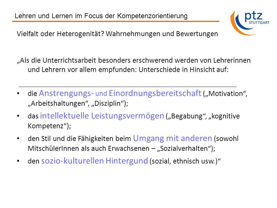 Lehren und Lernen im Focus der Kompetenzorientierung Gerhard Ziener, ptz 2013 Qualität von Unterricht (II) 1.Von welcher Qualität reden wir.