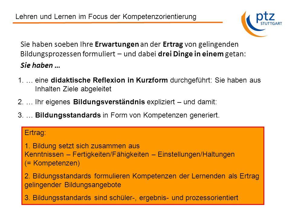 Gerhard Ziener, ptz Stuttgart 2013 Kompetenzorientierung zwischen Standardisierung und Individualisierung III.