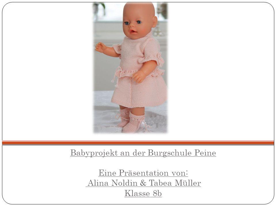 Babyprojekt an der Burgschule Peine Eine Präsentation von: Alina Noldin & Tabea Müller Klasse 8b