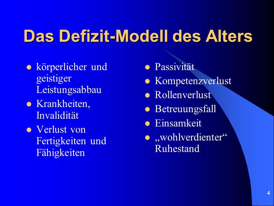 5 Das Kompetenz-Modell des Alters Der ältere Mensch kann sich bewusst eigene Ziele setzen.