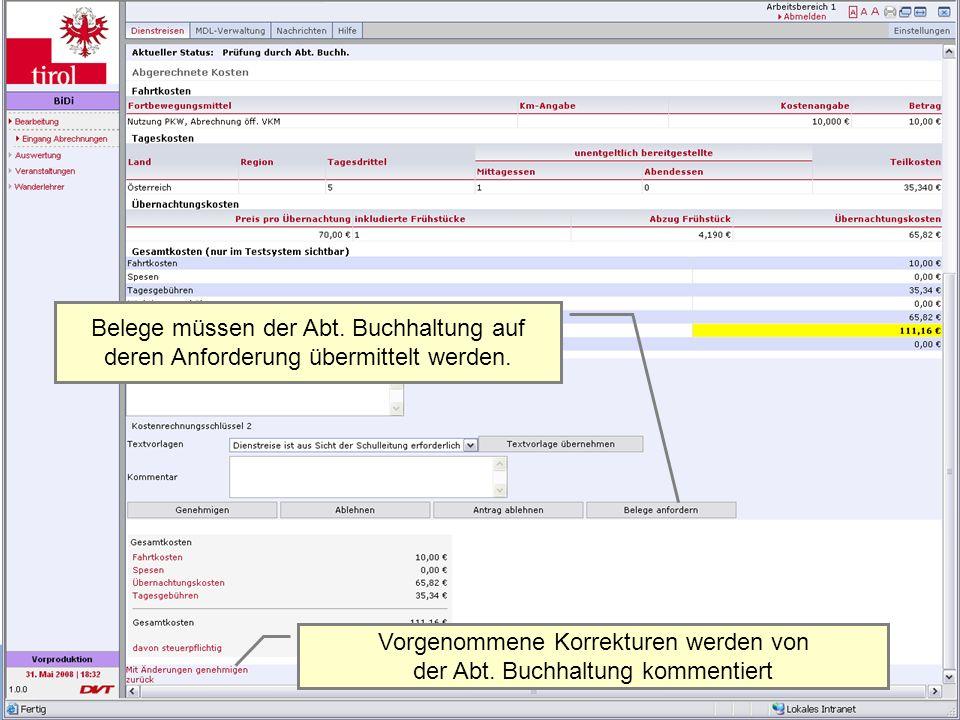Dienstrechtliche Fragen | 13.Juni 2011Mag. (FH) Alexander Heiß 24 Belege müssen der Abt. Buchhaltung auf deren Anforderung übermittelt werden. Vorgeno