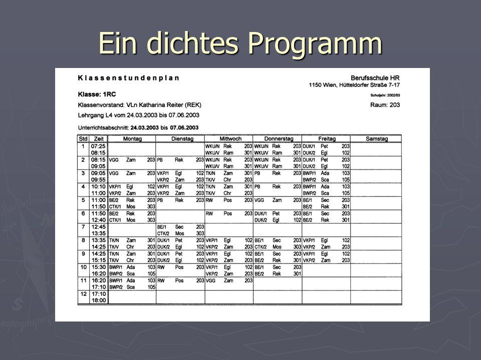 Ein dichtes Programm