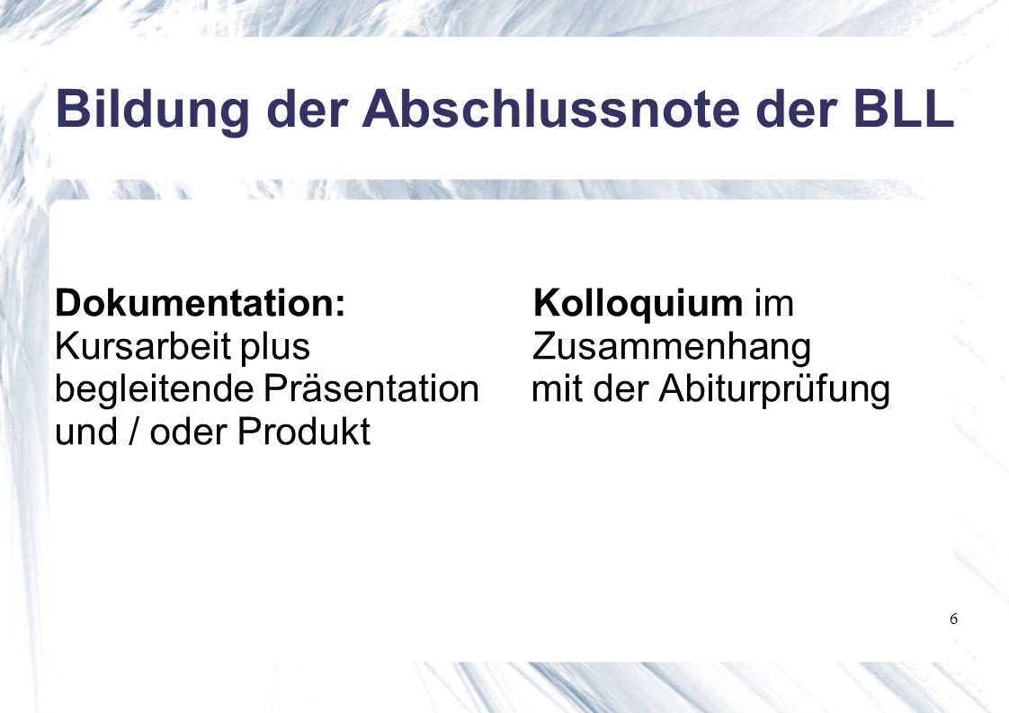 7 Kriterien der Leistungsmessung Themenfindung und Planung Sachgerechte Recherche Planungs- und Materialmappe Selbständigkeit des Arbeitens Kooperationsfähigkeit Fachkompetenzen Methodenkompetenzen