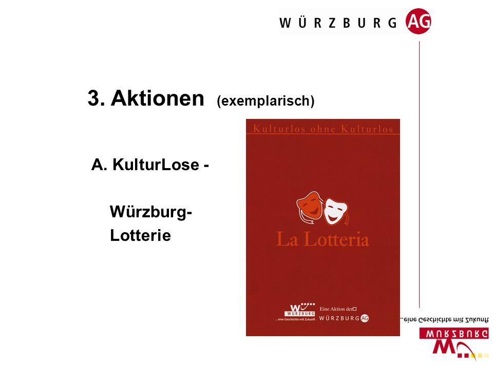 3. Aktionen (exemplarisch) A. KulturLose - Würzburg- Lotterie