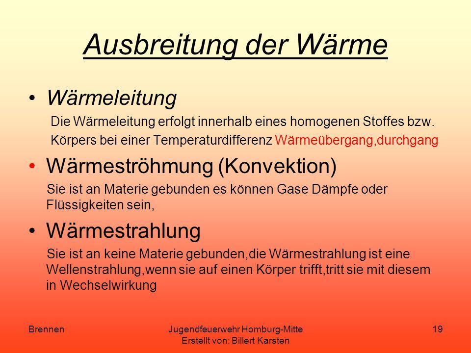 BrennenJugendfeuerwehr Homburg-Mitte Erstellt von: Billert Karsten 18 Katalysatoren Stoffe die Einfluss auf die Aktivierungsenergie (Mindestzündtemper