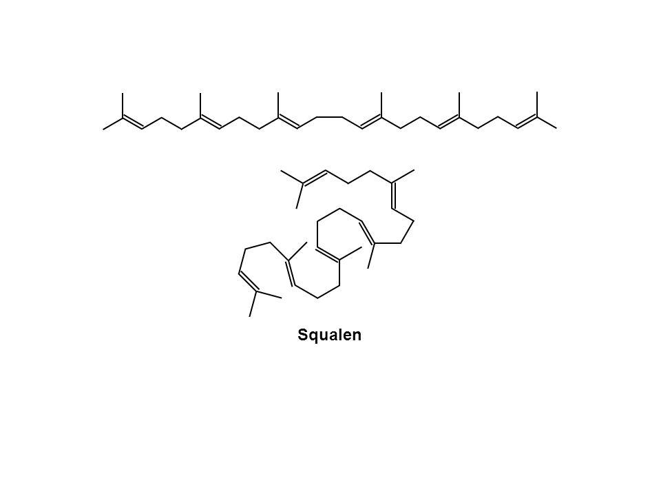 NADPH +H + O2O2 NADP + O Squalen Squalenepoxid H2OH2OH+H+ HO CH 3 H H H H + Bildung eines Epoxids CH 3 H3CH3C H3CH3C