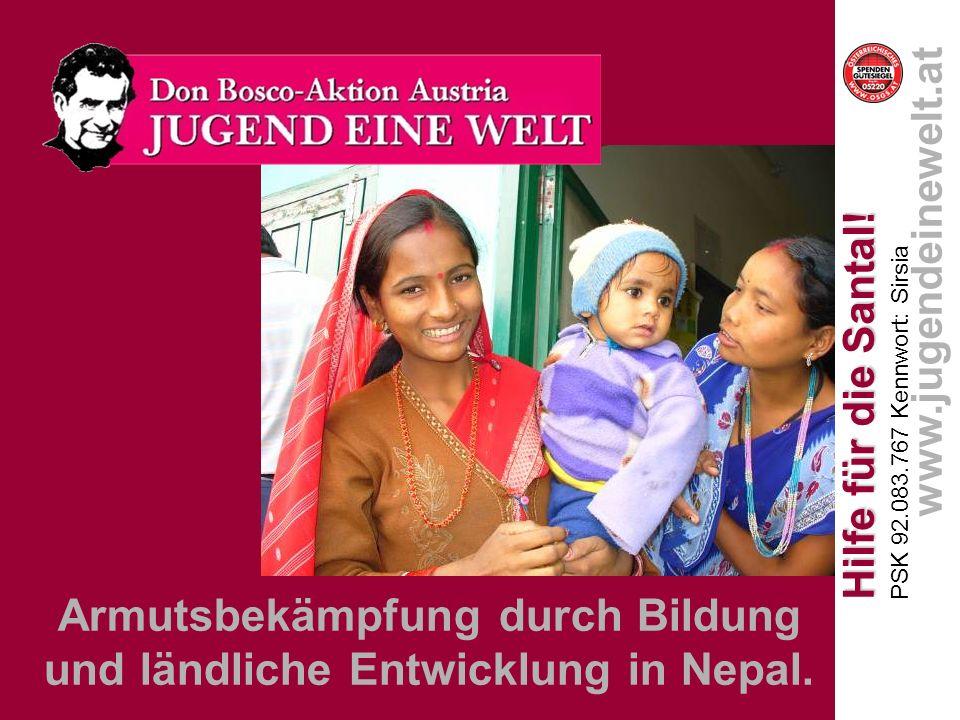 Armutsbekämpfung durch Bildung und ländliche Entwicklung in Nepal.